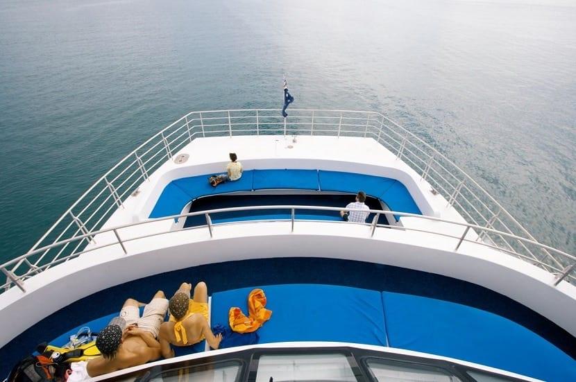 Vistas desde un crucero al mar