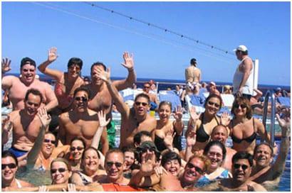 Las fiestas en los cruceros para jóvenes