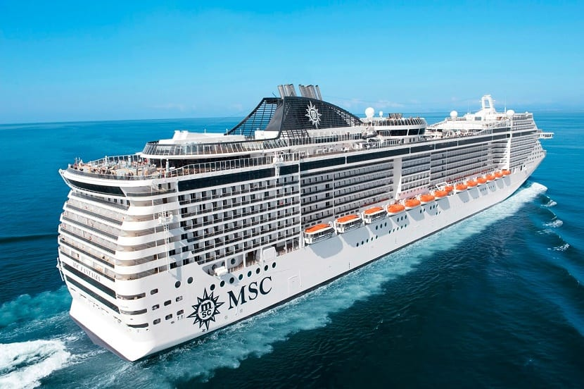 Barco MSC en tiempo real