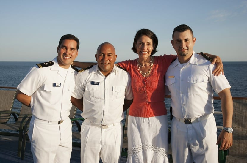 tripulación de un crucero